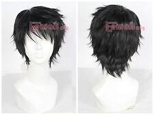 USA Ship Homestuck Karkat Vantas Short Black Fluffy Synthetic Hair Cosplay Wig