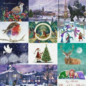 Charity Christmas Cards, 10 Pack with envelopes, Choose from 12 Festive Designs!
