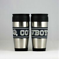 Dallas Cowboys NFL Officially Licensed 15oz Stainless Steel Tumbler w/ PVC Wrap