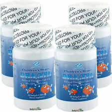 4 x Children's Kids DHA EPA Omega-3 Fish Oil 50 Softgels, Made In USA, FREE SHIP