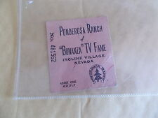 "An Old Ponderosa Ranch Of ""BONANZA"" TV Fame Ticket - Incline Village Nevada"