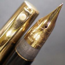 SHEAFFER TRIUMPH 12K GF Chased Aerometric Fountain Pen TRIUMPH 14K Gold F Nib