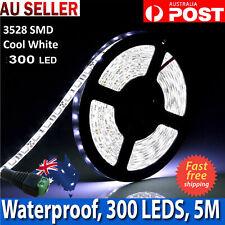 12V 5M 3528SMD Cool White 300 Flexible Waterproof LEDs Strip Lights LED For Room