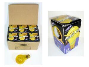 Yellow Party Lite Bulbs Case of 6 Bulbs Attitude Lighting