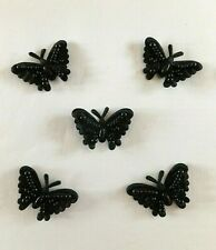 2 Brown Bead And Sequin Butterfly Motifs Approx 14cm #498