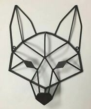 Iron Wolf Or Fox Cage Sculpture Mount On Wall Fox Coyote