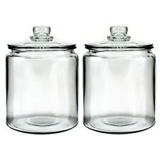 Anchor Hocking Heritage Hill Glass 0.5 Gallon Storage Jar, Set of 2