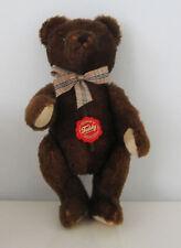 großer HERMANN 30-cm- Teddy braun mit Emblem - 100% Mohair - unbespielt wie neu