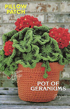 Pot of Geraniums, Annie's Pillow Patch Collection crochet patterns