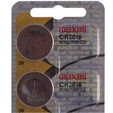 2 X Maxell Cr2016 Lithium High Power 3v Button Coin Cell Battery