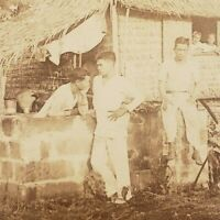 Native Home Family in Ermita Manila Philippine Islands Philippines Stereoview