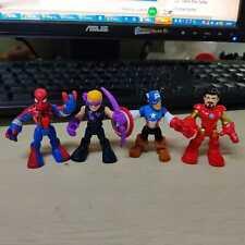 4PCS Playskool Heroes Marvel Spider Man Ironman Enemies Bundle Habro Figures
