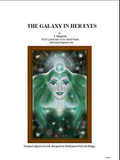 The galaxy In her eyes - cross stitch chart