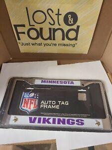 NFL Minnesota Vikings Car Truck Metal License Plate Frame