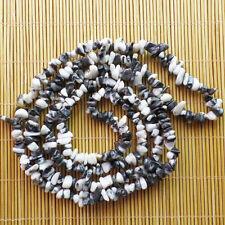 1Strand 5-8mm Natural Black & white Zebra Jasper FreeForm Chip loose bead 34Inch