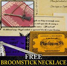 Harry Potter PERSONALISED Hogwarts Acceptance Letter Train Ticket - Broomstick