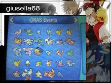 Pokemon X Y / ORAS / SUN MOON - ORAS EVENTS (look description for the list)