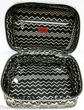 MISSONI x Target 'Famiglia (Black & White Zig Zag)' Train Case Make-up Tote NEW!