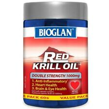 Bioglan RED KRILL OIL1000mg 60 Capsules -NEW Sealed - FREE SHIP in Australia