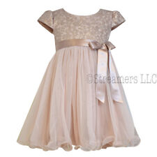 BONNIE JEAN NWT GIRL'S size 2 Toddler GORGEOUS Dusty Pink Tapestry Zip Dress 2T