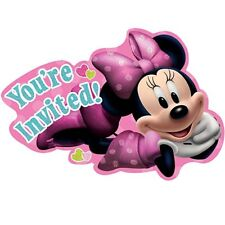 Disney Minnie Mouse Dreams Invitations 8 Per Package Birthday Party Supplies New