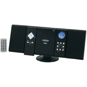 Stereo Music System Wall Mountable Micro Small AM FM Radio CD Player Remote NEW