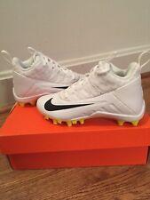 Nike Alpha Huarache 6 Bg Lax Youth 923418 107 White Lacrosse Cleats 1.5 Y