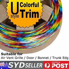 DIY Automobile Door Seal Mouldings Molding Edge Trim Strip Rainbow Colorful 8M