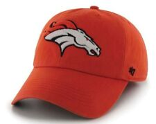 wholesale dealer e709d 75b13 DENVER BRONCOS  47 BRAND NFL (FRANCHISE) ORANGE STRETCH FITTED CAP HAT SZ L