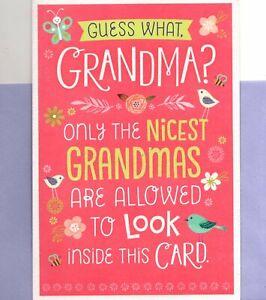 Happy Mother's Day Nicest Grandma Birds & Flowers Pop Up Hallmark Greeting Card