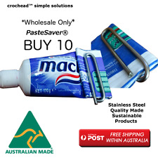 Stainless Steel Toothpaste Saver Clip - Packet of 10 - Wholesale