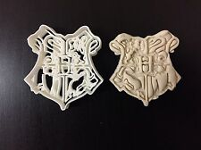 School of Poudlard Badge Harry Potter Cookie Cutter Topper Crème UK seller