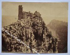 """CAMPANIA. """"Castello di Barbarossa, Anacapri"""". Fotografia originale all'albumina"""