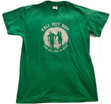 Vintage Fall Out Boy Love Will Year Us Apart T-Shirt Green Punk Emo Size Medium