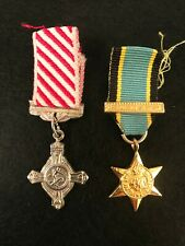 WW2 British Air Force Medal & Aircrew Europe Star With Bar Miniature Medals