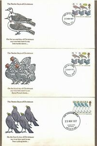 UK # 821 - 826 , The Twelve Days of Christmas on 12 FDCs - I Combine S/H