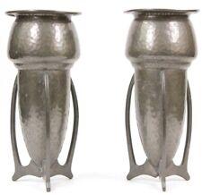 Art Nouveau Liberty Knox Pewter Rocket Vases C4578 Circa 1900 Jugendstil