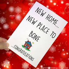 Congrats New Home Card Moving Home First Home Housewarming Funny Banter Fun PC63