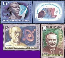 Russia - 1986 - Cosmonauts Day Space Issue # 5442 - 44 Complete Set of 3 NH