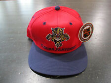 NEW VINTAGE Florida Panthers Snap Back Red Blue NHL Hockey Mens 90s