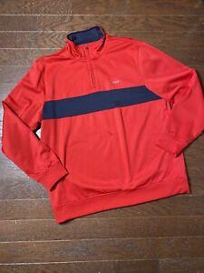 IZOD Perform Golf Red Black Long Sleeve Pullover XL EUC