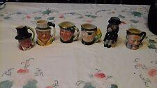 Lancaster Sandland handpainted Miniature Toby Mugs&1 ARTONE FAGIN miniature mug