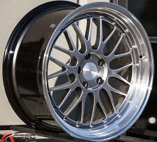 18X9.5 Varrstoen Es111 Wheels 5X100 +35 Hyper Black Rim Fits Impreza Neon Celica
