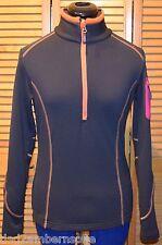 CMP F.LLI CAMPAGNOLO Half-zip Women's Sweat Fleece Pullover (Gray Orange) XS