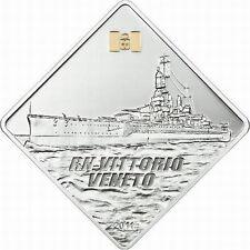 Palau 2011 Battleship Vittorio 10 Dollars 2oz Gild Silver Coin,Proof