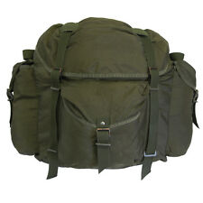 Large Austrian Army Issue Olive Green Rucksack - Military Style Bag Sack Holdall