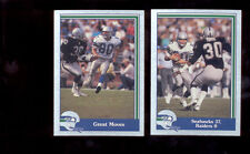1989 Pacific STEVE LARGENT STACY TORAN Seattle Seahawks Oakland Raiders Card LOT