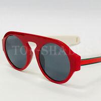 Fashion Thick Frame Red  Round Luxury Men Women Aviator Fancy Style Sunglasses
