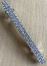 A DesignSix Silber Geprägt Metall Haarspange
