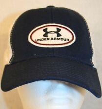 320bd094ea1 Under Armour White Navy Blue Mesh Cap Hat Dad Trucker Adjust Strap patch  logo